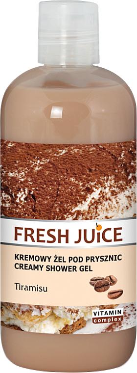 """Shower Cream-Gel """"Tiramisu"""" - Fresh Juice Tiramisu Creamy Shower Gel"""