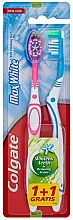 Fragrances, Perfumes, Cosmetics Toothbrush Max White, light blue + pink - Colgate Max White Medium Polishing Star