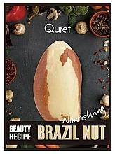 Fragrances, Perfumes, Cosmetics Intensively Nourishing Mask - Quret Beauty Recipe Mask Brazil Nut Nourishing