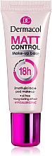 Fragrances, Perfumes, Cosmetics Mattifying Makeup Base - Dermacol Matt Control MakeUp Base 18h