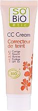 Fragrances, Perfumes, Cosmetics CC-Cream, 5 in 1 SPF 10 - So'Bio Etic CC Cream