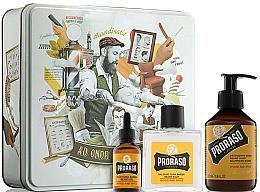 Fragrances, Perfumes, Cosmetics Set - Proraso Wood & Spice Beard Kit (balm/100ml + shmp/200ml + oil/30ml)
