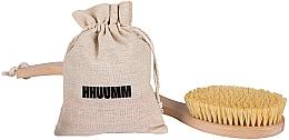 Fragrances, Perfumes, Cosmetics Massage Body Brush with Tampico Fiber, double bend - Hhuumm № 6