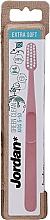 Fragrances, Perfumes, Cosmetics Toothbrush for Kids, 5-10 years, extra soft, pink - Jordan Green Clean Kids