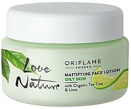 Fragrances, Perfumes, Cosmetics Matte Face Balm with Organic Tea Tree and Lime - Oriflame Love Nature Mattifyng Face Lotion
