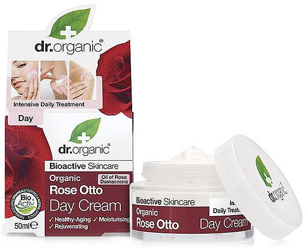 """Anti-Aging Day Cream """"Rose Otto"""" - Dr. Organic Bioactive Skincare Rose Otto Day Cream"""