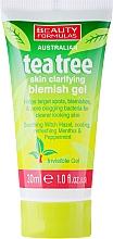 "Fragrances, Perfumes, Cosmetics Anti-Inflammatory Face Gel ""Tea Tree"" - Beauty Formulas Tea Tree Skin Clarifying Blemish Gel"