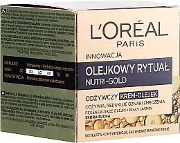 Fragrances, Perfumes, Cosmetics Cream-Oil for Dry Skin - L'Oreal Paris Nutri Gold Cream-Oil