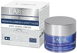 Fragrances, Perfumes, Cosmetics Argan Oil and Omega 3+6 Anti-Wrinkle Cream - Ava Laboratorium L'Arisse 5D Anti-Wrinkle Cream Agran Oil & Omega 3+6