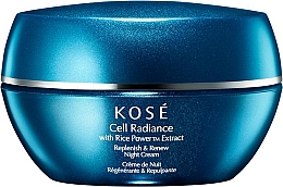 Fragrances, Perfumes, Cosmetics Night Face Cream - KOSE Rice Power Extract Cell Radiance Replenish & Renew Night Cream