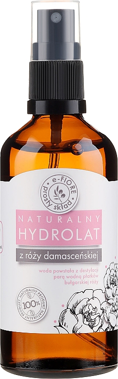 Damask Rose Petals Hydrolat - E-Fiore Hydrolat