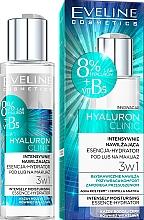 Fragrances, Perfumes, Cosmetics Moisturizing Face Essence - Eveline Cosmetics Hyaluron Clinic