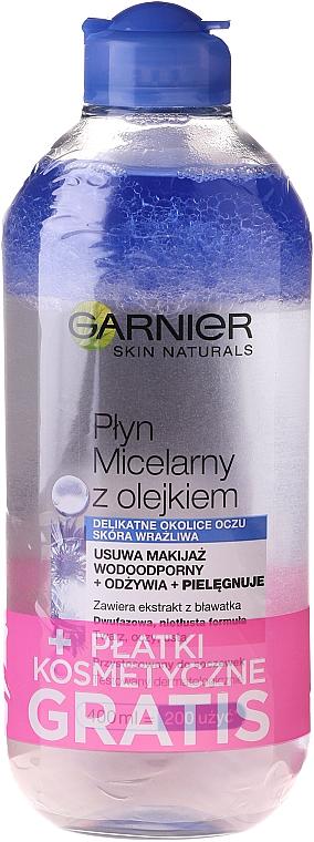 Set - Garnier Skin Naturals (micel/water/400ml + cotton pads/15pc)