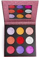 Fragrances, Perfumes, Cosmetics Glitter Palette - Makeup Revolution Pressed Glitter Palette Diva