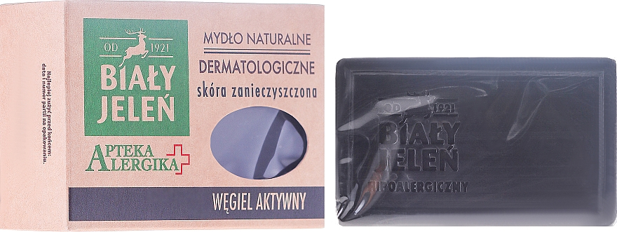 Activated Charcoal Dermatological Soap - Bialy Jelen Apteka Alergika Soap