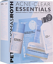 Fragrances, Perfumes, Cosmetics Set - Peter Thomas Roth Acne-Clear Essentials Kit (patch/12pcs+gel/20ml+patch/20pcs+f/wash/57ml+cr/7.5ml)