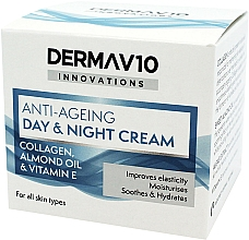 Fragrances, Perfumes, Cosmetics Anti-Aging Collagen Cream - Derma V10 Innovations Anti-Ageing Day & Night Cream