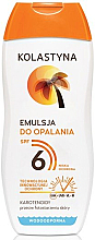 Fragrances, Perfumes, Cosmetics Tan Emulsion - Kolastyna Suncare Emulsion SPF6
