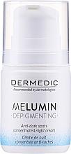 Fragrances, Perfumes, Cosmetics Depigmenting Night Cream - Dermedic MeLumin Depigmenting Night Cream