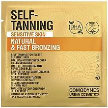 Fragrances, Perfumes, Cosmetics Self-Tanning Towelette for Sensitive Skin - Comodynes Self-Tanning Sensitive Skin
