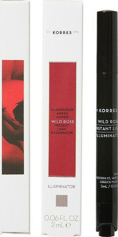 Face Concealer - Korres Wild Rose Instant Light Illuminator Concealer