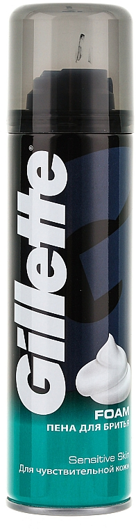 Shaving Foam for Sensitive Skin - Gillette Classic Sensitive Skin Shave Foam for Men