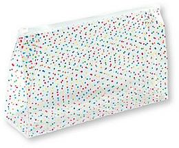 "Fragrances, Perfumes, Cosmetics Makeup Bag ""Happy Dots"", 93463 - Top Choice"