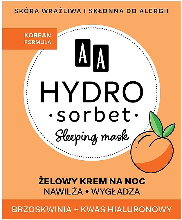 Night Face Mask - AA Hydro Sorbet Korean Formula Sleeping Mask