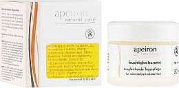 Fragrances, Perfumes, Cosmetics Moisturizing Day Cream for Normal & Dry Skin - Apeiron Moisturizing Cream