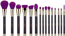 Fragrances, Perfumes, Cosmetics Makeup Brush Set, T114, 15pcs - Jessup