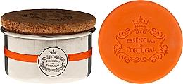 Fragrances, Perfumes, Cosmetics Natural Soap - Essencias de Portugal Aluminium Jewel-Keeper With Cork Lid Orange