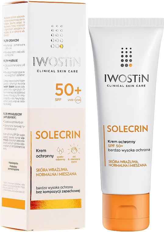 Sun Cream - Iwostin Solecrin Protective Cream SPF 50+