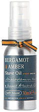 Fragrances, Perfumes, Cosmetics Bath House Bergamot & Amber - Shaving Oil