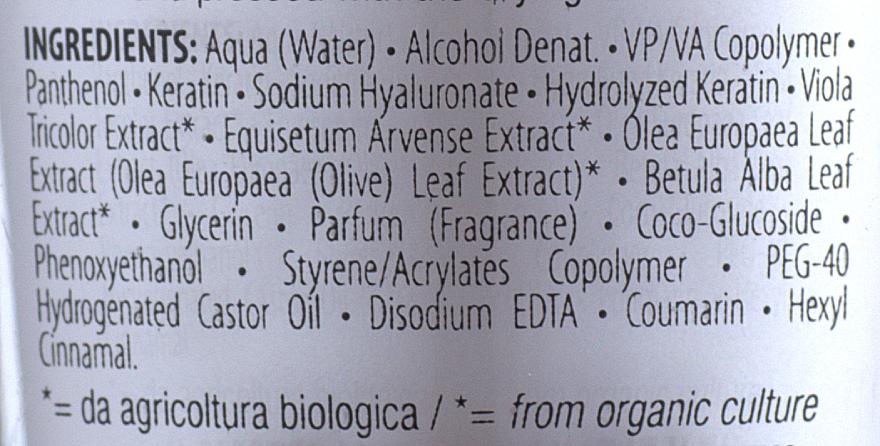 Leave-In Keratin & Hyaluronic Acid Volume Hair Lotion - Orising Hair Filler System — photo N2