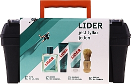 Fragrances, Perfumes, Cosmetics Set - Lider Classic Tool Box Set (ash/lot/100ml + sh/cr/65g + ash/balm/100ml + sh/brush + case)