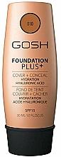 Fragrances, Perfumes, Cosmetics Foundation - Gosh Foundation Plus Cover&Conceal SPF15