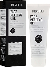 Fragrances, Perfumes, Cosmetics Peeling for Face Skin - Revuele Face Peeling Gel With Charcoal