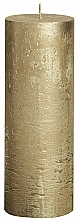 Fragrances, Perfumes, Cosmetics Cylindrical Candle Metallic Gold, 190/68 mm - Bolsius Candle