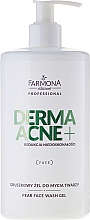Fragrances, Perfumes, Cosmetics Facial Washing Gel - Farmona Dermaacne+ Pear Face Wash Gel