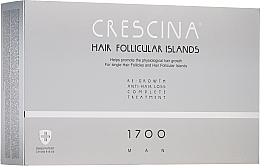 Fragrances, Perfumes, Cosmetics Men Anti Hair Loss Treatment Complex 1700 - Crescina Hair Follicular Islands Man Complete Treatment 1700