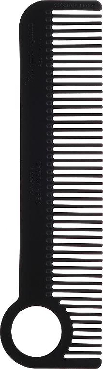 Hair Comb, black - Chicago Comb Co CHICA-1-CF Model № 1 Carbon Fiber — photo N1