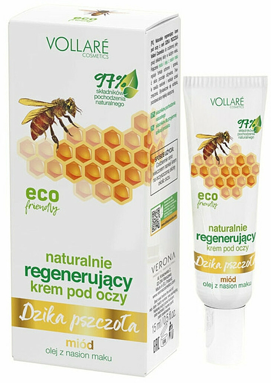 Regenerating Eye Zone Cream 'Wild Bee' - Vollare
