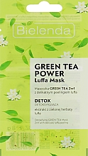 Fragrances, Perfumes, Cosmetics Face Mask - Bielenda Green Tea Power Luffa Mask 2in1