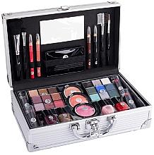 Fragrances, Perfumes, Cosmetics Beauty Case - Cosmetic 2K Fabulous Beauty Train Case Complete Makeup Palette