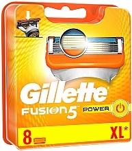 Fragrances, Perfumes, Cosmetics Shaving Razor Refills, 8 pcs. - Gillette Fusion Power