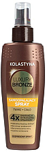 Fragrances, Perfumes, Cosmetics Self-Tanning Spray for Face and Body - Kolastyna Luxury Bronze Tanning Spray
