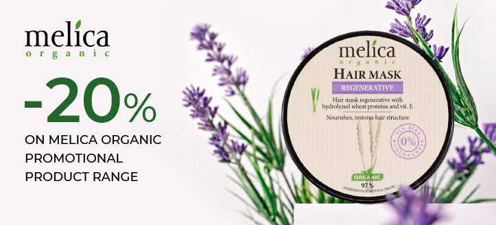 20% off on Melica Organic promotional product range. Prices on the site already include a discount