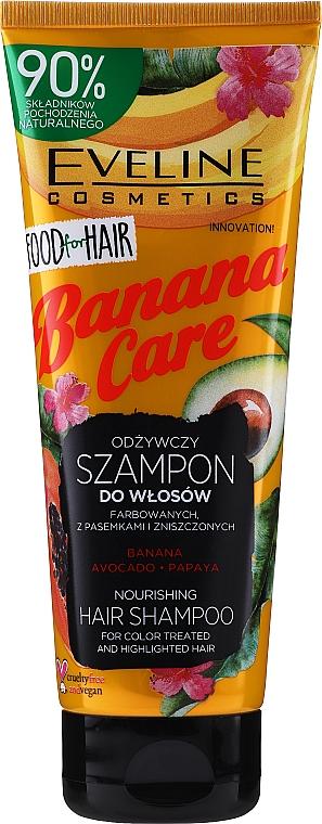 Colored & Damaged Hair Shampoo - Eveline Cosmetics Food For Hair Banana Care Shampoo