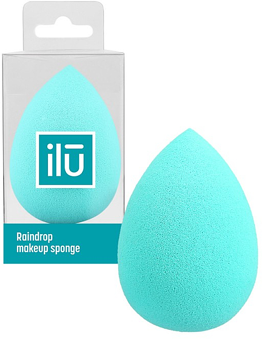 Raindrop Makeup Sponge, turquoise - Ilu Sponge Raindrop Turquoise
