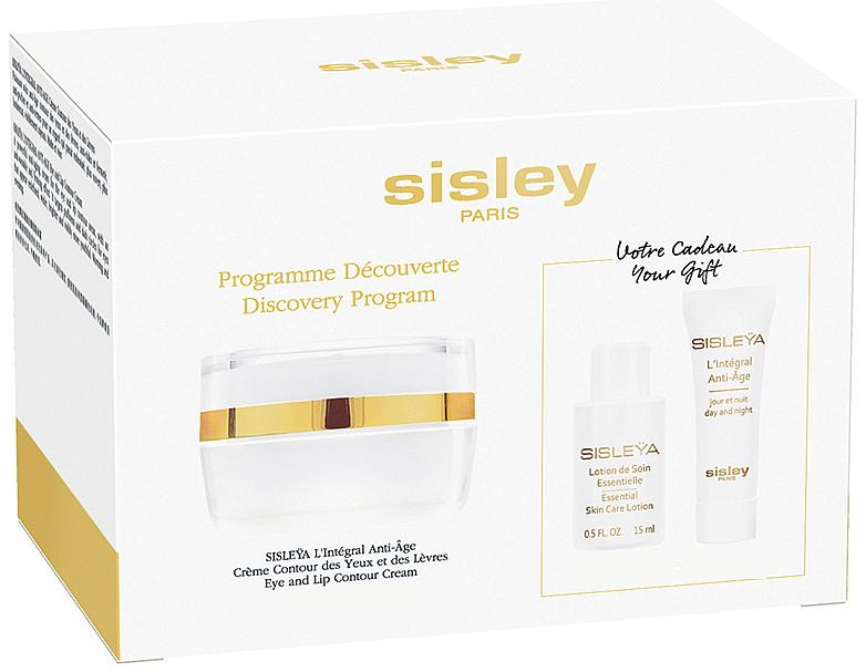 Set - Sisleya L'Integral Anti-Age Eye And Lip Contour Cream Set (cr/4ml + lot/15ml + cr/lip/eye/15ml)